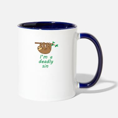 Deadly Sins Sloth Is A Deadly Sin - Two-Tone Mug