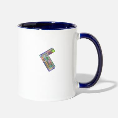 Rectangle Metal Rectangles - Contrast Coffee Mug
