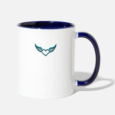Heart With Wings Heart with wings - Two-Tone Mug