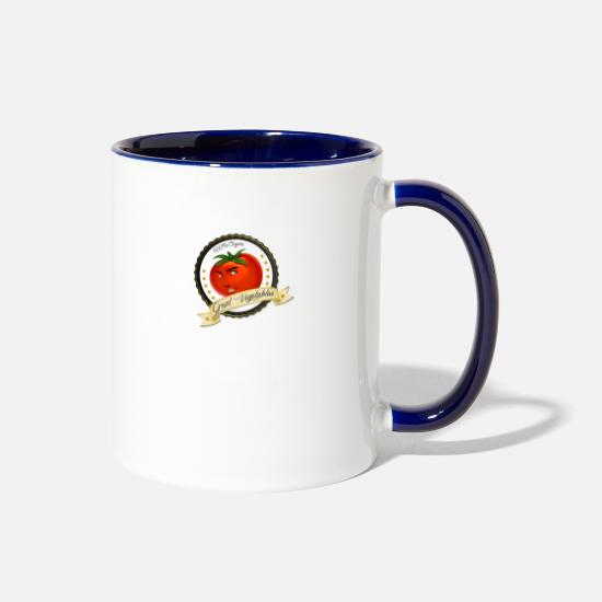 Vegetable Mugs & Drinkware - GREAT VEGETABLES - Two-Tone Mug white/cobalt blue