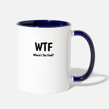 Quotes Where's the Food? - Contrast Coffee Mug