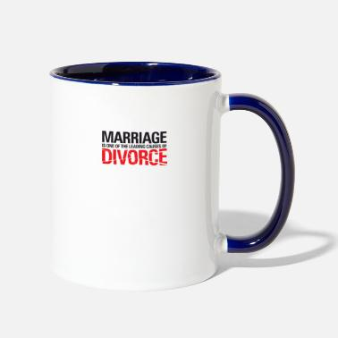 Divorce Marriage Is A Main Reason For Divorce! - Contrast Coffee Mug