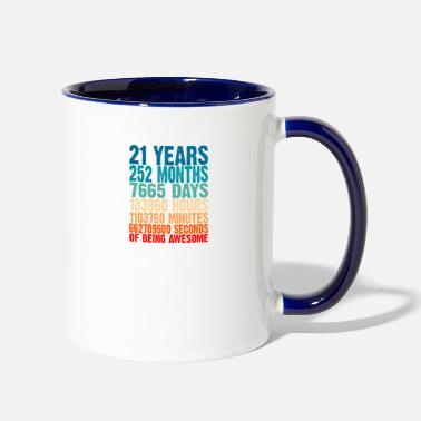 Old 21 Years Of Being Awesome Gifts 21 Years Old 21 Bi - Two-Tone Mug