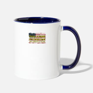 PE Physical Education Teacher. USA Pride Patriotic - Two-Tone Mug