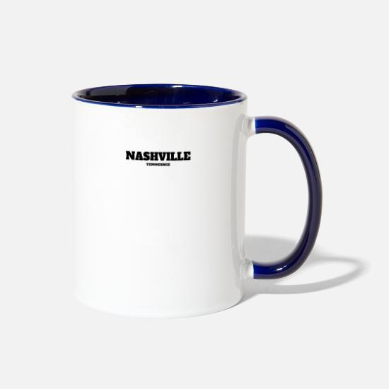 Nashville Mugs & Drinkware - TENNESSEE NASHVILLE US EDITION - Two-Tone Mug white/cobalt blue