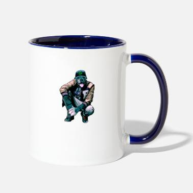 Rapper dog rapper - Two-Tone Mug