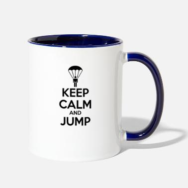Parachuting parachute - Two-Tone Mug