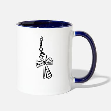 Crucifix Cross, Crucifix with gemstone. - Contrast Coffee Mug