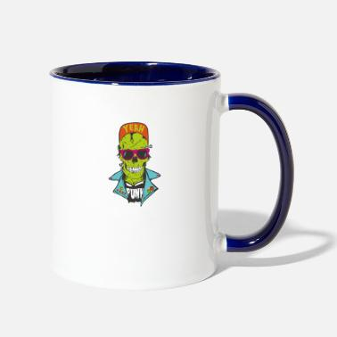 Fantasy Punk Zombie - Two-Tone Mug