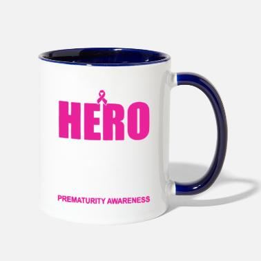 Birth I Gave Birth To Mine Prematurity Awareness T Shirt - Two-Tone Mug