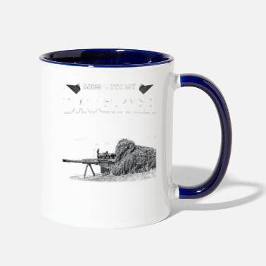 Daughter MESS WITH MY DAUGHTER - Contrast Coffee Mug