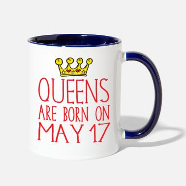 Born In Queens are born on May 17 - Two-Tone Mug