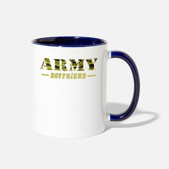 Boyfriend Mugs & Drinkware - Army Boyfriend - Proud Army Boyfriend T-Shirt - Two-Tone Mug white/cobalt blue