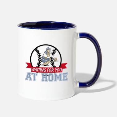 Catcher Softball Catcher Waiting For You At Home - Two-Tone Mug