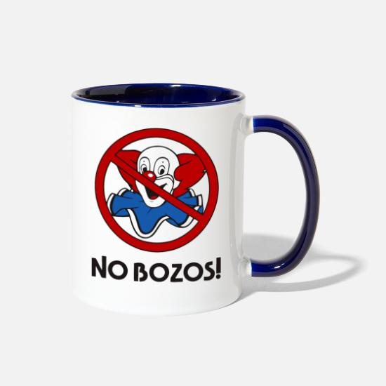 No Mugs & Drinkware - NO BOZOS! - Two-Tone Mug white/cobalt blue