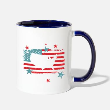 Awesome Happy 4th of July gifts mens womens kids t-shirt - Two-Tone Mug