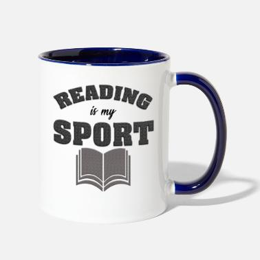 Read Reading Is My Sport - Two-Tone Mug