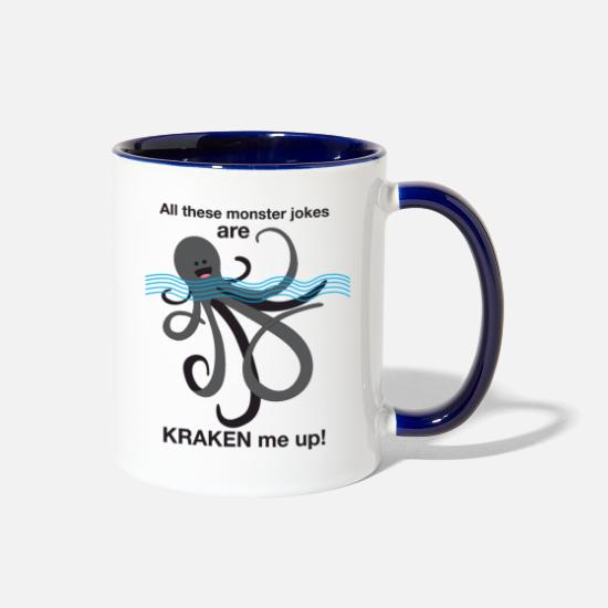 Kraken Mugs & Drinkware - Kraken - Two-Tone Mug white/cobalt blue
