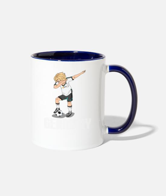 World Championship Mugs & Cups - Germany Soccer Player World Championship gift - Two-Tone Mug white/cobalt blue