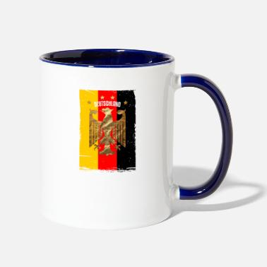 Schland Germany Gold Gift Country Flag Style Cool Nation - Two-Tone Mug