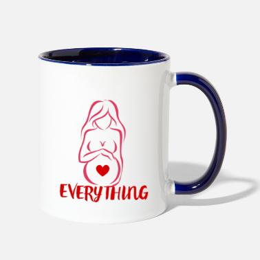 Pregnant Pregnant Baby Pregnancy Mummy Birth Gift Idea - Two-Tone Mug
