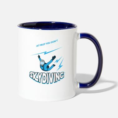 Skydiver Skydive skydive cartoon skydive Skydive skydive - Two-Tone Mug