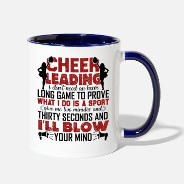 Cheerleader Cheerleading Funny - Two-Tone Mug