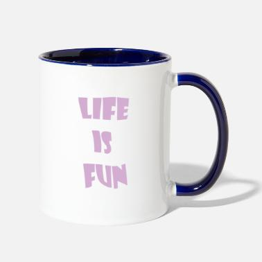 Life is Fun Just keep Smiling Summer Design 2018 - Two-Tone Mug