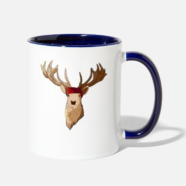 Headband Deer Face With Headband - Two-Tone Mug