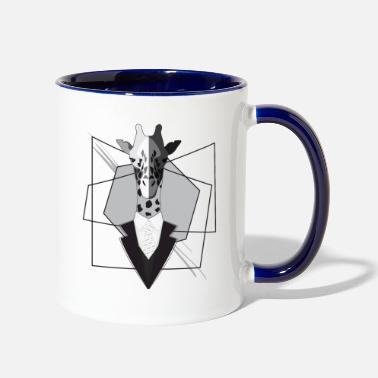 Suit Giraffe with suit - Contrast Coffee Mug
