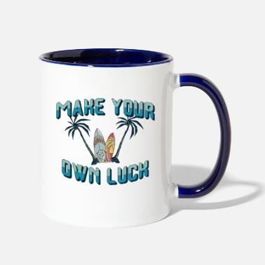 Luck Joy and Happiness - Make your own luck - Two-Tone Mug