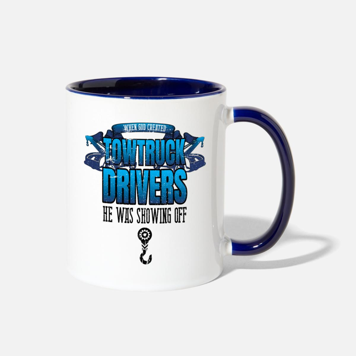 Gift idea work BLUE This is what an AWESOME HGV Driver Looks like SILVER Mug