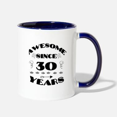 Bday Awesome since 30 years 30th Birthday Party 1989 - Two-Tone Mug