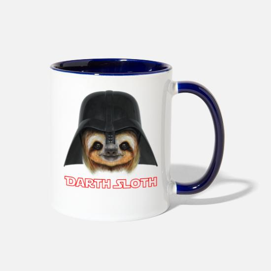 Darth Mugs & Drinkware - Darth Sloth - Two-Tone Mug white/cobalt blue