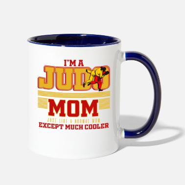 Judo Cool Judo Mom | Lady Martial Art Fighter | Quote - Two-Tone Mug