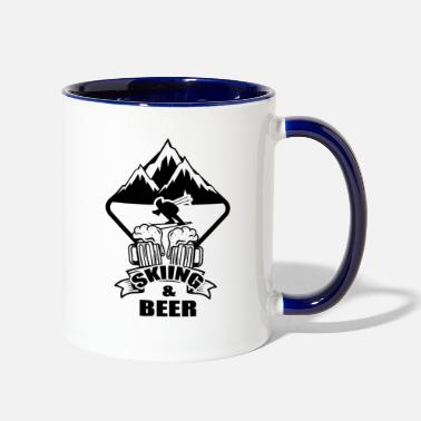Skiing Holiday Ski Skiing Skier Ski club Ski holidays - Two-Tone Mug