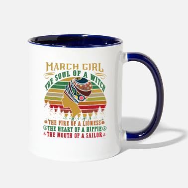 Witch March girl the soul of a witch mouth of a sailor T - Two-Tone Mug