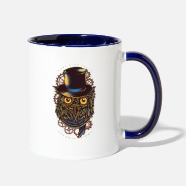Cool Very high style Steampunk owl - Two-Tone Mug