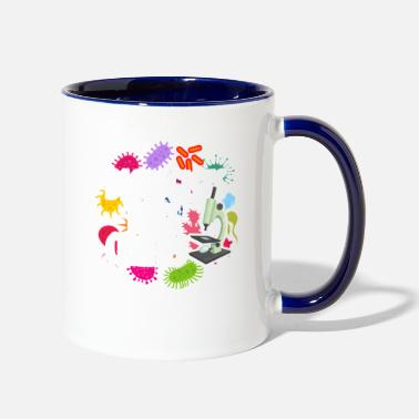 Biology Funny Biology, Biologists Take Cellfies, Science - Two-Tone Mug