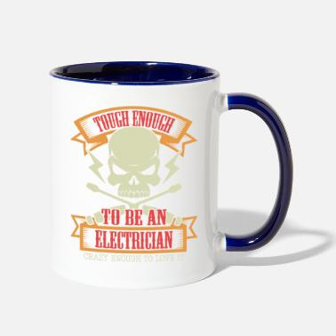 Pullers Electrician Electricity Puller Gift Profession Str - Two-Tone Mug