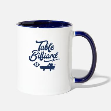 Billard Table Billard Billard Billard Billard - Two-Tone Mug