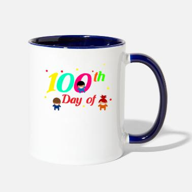 Kindergarten 100th Day of Kindergarten - Two-Tone Mug