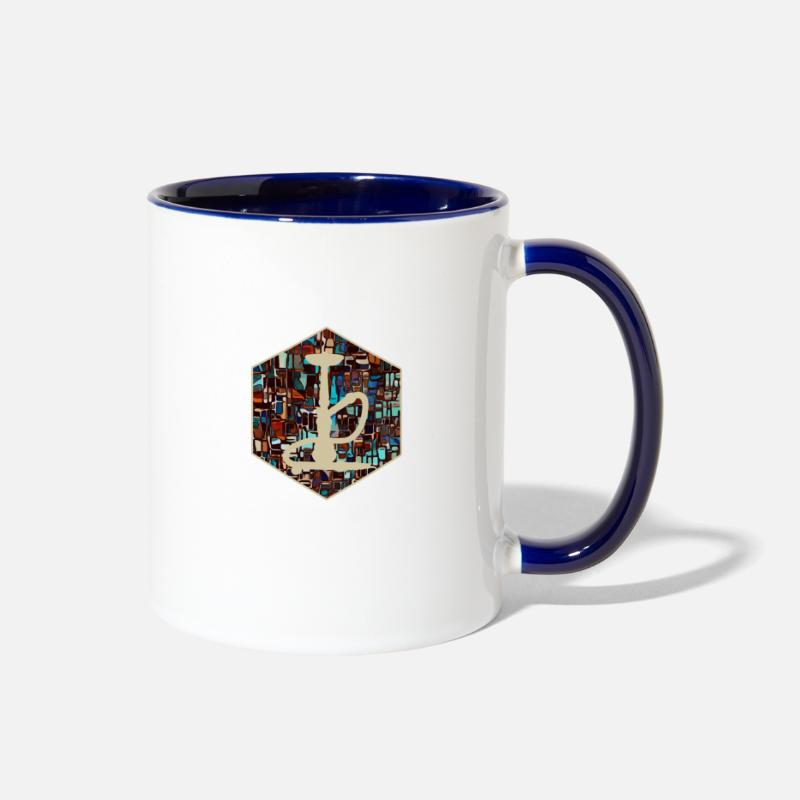Smoking Mugs & Drinkware - Shisha - Two-Tone Mug white/cobalt blue