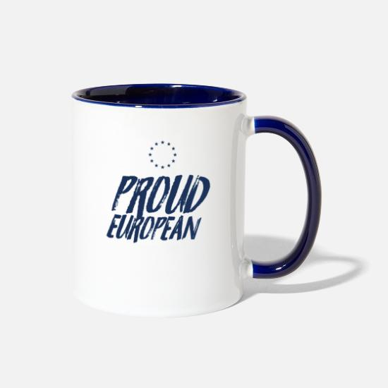 Europe Mugs & Drinkware - Europe Election - Two-Tone Mug white/cobalt blue