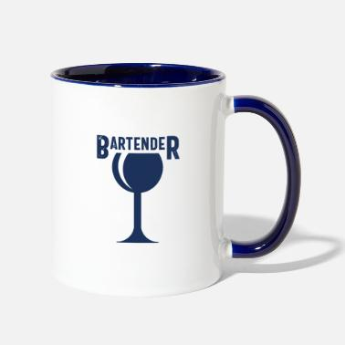 Bar Pub Barkeeper Bartender Bar Pub Barman Barwoman - Two-Tone Mug