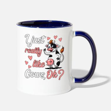 Animal I Just Really Like Cows - Two-Tone Mug