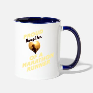 Runner daughter - Two-Tone Mug