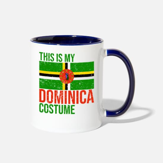 Dominica Mugs & Drinkware - This is my dominica Costume Halloween T-Shirt - Two-Tone Mug white/cobalt blue