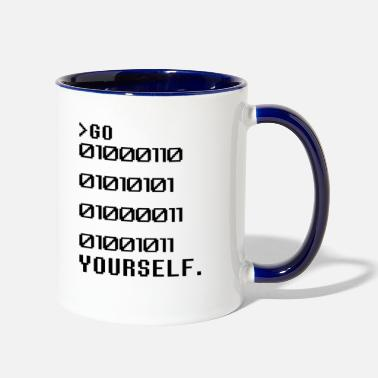 Computer Go Binary Yourself - Two-Tone Mug