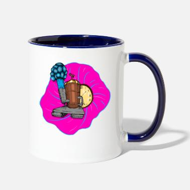 Future Machine Timetravel Steampunk future time machine - Two-Tone Mug